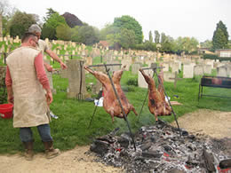 Hog roast at the Saxon feast