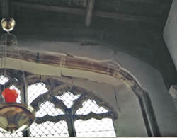 St Kyneburgha's east window in danger of collapse