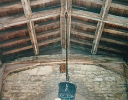 St Kyneburgha's porch roof after conservation