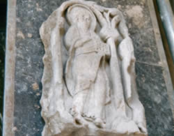 Saxon stone carving recovered from beneath the chancel floor