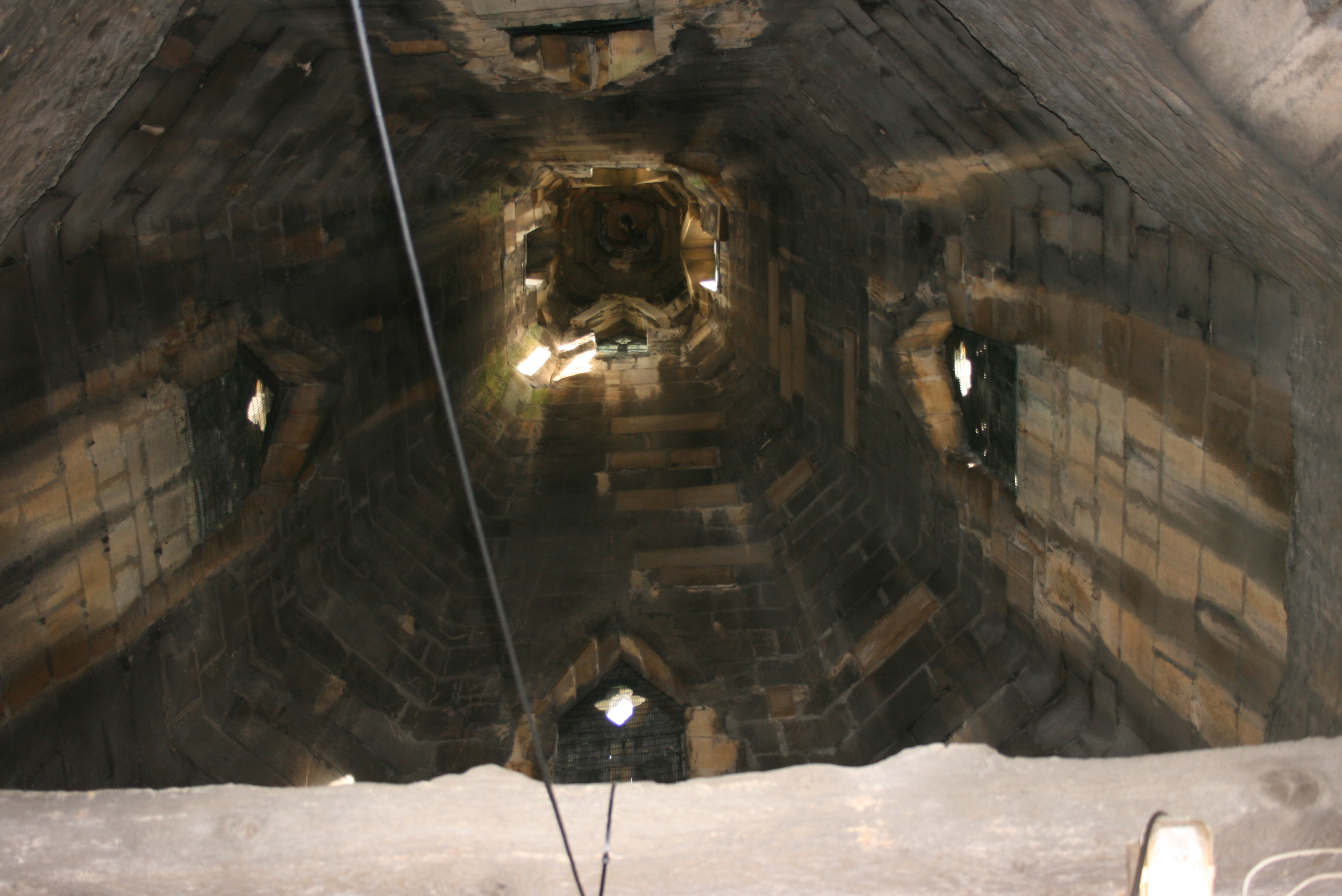 Looking up the tower