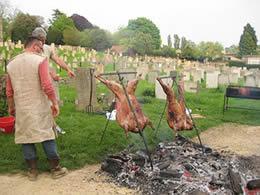 Hog roast at the Saxon feast
