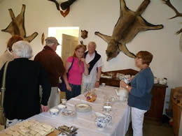 Refreshments provided in the Hunt Drawing Room at Milton Hall