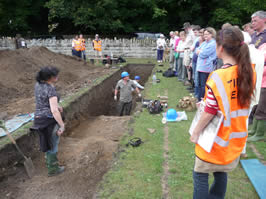 Time Team excavate the Roman bath house