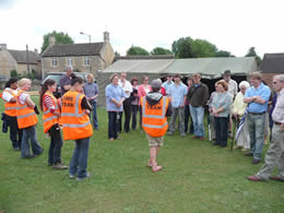 Time Team briefing for visitors