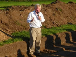 Dr Stephen Upex at Waternewton Fort excavations
